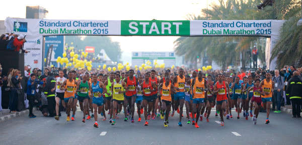 Start des Dubai Marathons