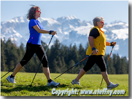 Nordic Walking ideal im Bergland